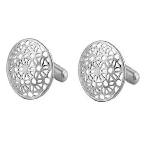Sterling Silver Floral Bar Cufflinks From Pobjoy