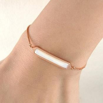 Handmade Rose Gold Plated On Silver & Pearl Friendship Bracelet