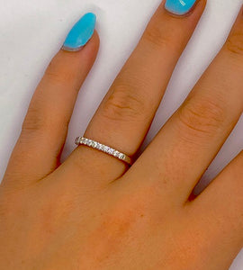 950 Platinum Half Eternity Ring 0.25 CTW