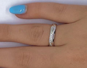 950 Platinum Full Eternity Offset Ring 0.60 CTW - Pobjoy Diamonds