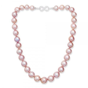 Freshwater Pink Pearl Necklace & Silver Clasp - Pobjoy Diamonds