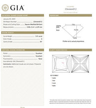 Load image into Gallery viewer, 950 Platinum Princess Cut Solitaire 1.00 Carat Diamond Ring G/Si1-Florence