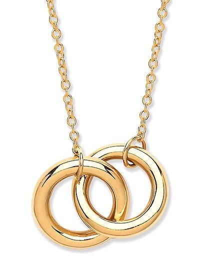 Pobjoy 9K Yellow Gold Twin Hoop Necklace