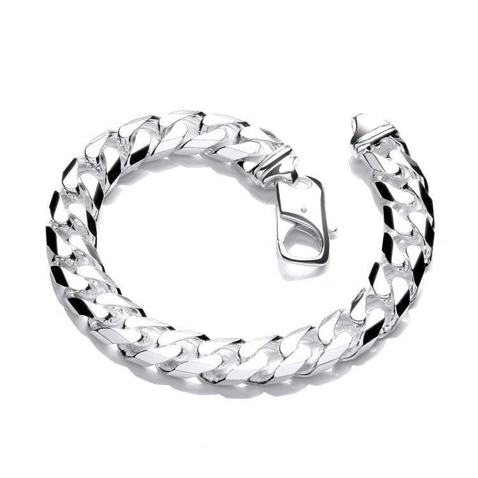 Chunky Sterling Silver Men's Bracelet. Universal Size. 6mm Thick. Robust Fixture. Everyday Wear