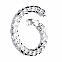 Load image into Gallery viewer, Gents Sterling Silver Curb Bracelet - Pobjoy Diamonds