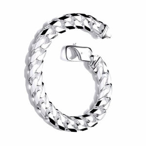 Gents Sterling Silver Curb Bracelet - Pobjoy Diamonds