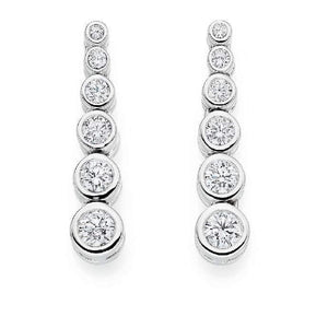 18K Gold Six Point 1.20 CTW Diamond Earrings