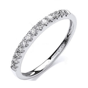 950 Platinum Half Eternity Ring 0.20 CTW