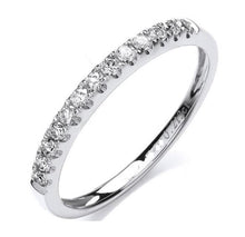 Load image into Gallery viewer, 950 Platinum Half Eternity Ring 0.20 CTW