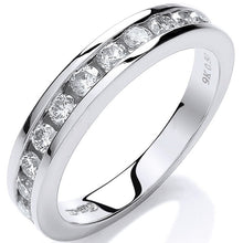 Load image into Gallery viewer, 9K White Gold Diamond Half Eternity Ring 0.50 CTW