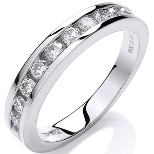 9K White Gold Diamond Half Eternity Ring 0.50 CTW