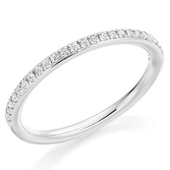 950 Platinum Ladies Half Eternity Ring 0.17 CTW - Pobjoy Diamonds