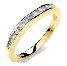 Load image into Gallery viewer, 18K Yellow Gold 0.25 CTW Channel Set Half Eternity Ring
