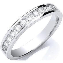 Load image into Gallery viewer, 18K White Gold Diamond Half Eternity Ring 0.50 CTW - H/Si