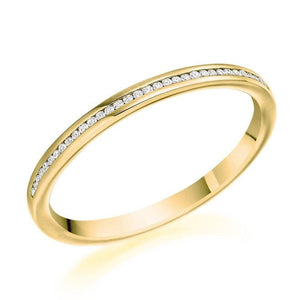 18K Yellow Gold 0.07 CTW Diamond Half Eternity Ring - Pobjoy Diamonds