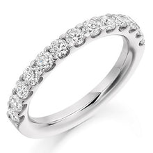 Load image into Gallery viewer, 18K White Gold Claw Set Diamond Half Eternity Ring 1.00 CTW