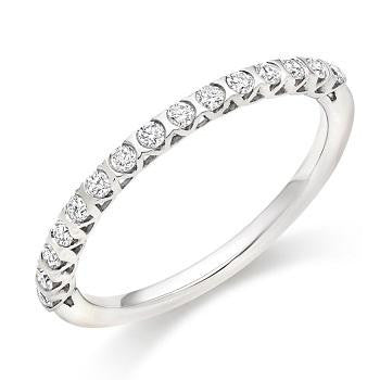 18K White Gold Half Eternity Ring 0.25 CTW - Pobjoy Diamonds