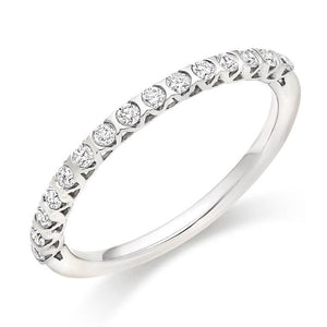 950 Platinum Half Eternity Ring 0.25 CTW - Pobjoy Diamonds