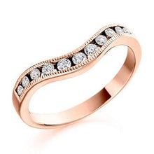 Load image into Gallery viewer, 18K Rose Gold Cutaway Half Eternity Ring-0.27 CTW - Pobjoy Diamonds