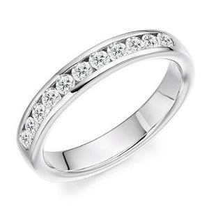 950 Platinum Diamond Half Eternity Ring 0.40 CTW - Pobjoy Diamonds