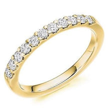 Load image into Gallery viewer, 18K Yellow Gold Half Eternity Ring 0.45 CTW - Pobjoy Diamonds