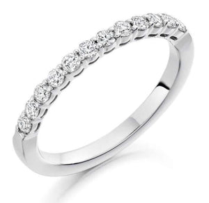 950 Palladium Diamond Half Eternity Ring 0.50 CTW-Choice Of Grade - Pobjoy Diamonds