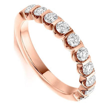 Load image into Gallery viewer, 18K Rose Gold 0.75 CTW Diamond Half Eternity Ring - Pobjoy Diamonds