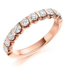 Load image into Gallery viewer, 18K Rose Gold 0.75 CTW Diamond Half Eternity Ring From Pobjoy
