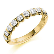 Load image into Gallery viewer, 18K Yellow Gold 0.75 CTW Diamond Half Eternity Ring - Pobjoy Diamonds