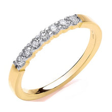 Load image into Gallery viewer, 9K Yellow Gold Diamond Half Eternity Ring 0.25 CTW