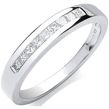 Load image into Gallery viewer, 9K White Gold Half Eternity Princess Cut Diamond Ring 0.25 CTW