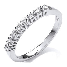 Load image into Gallery viewer, 9K White Gold Diamond Half Eternity Ring 0.20 CTW