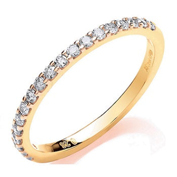 9K Yellow Gold Diamond Half Eternity Ring 0.27 CTW