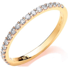 Load image into Gallery viewer, 9K Yellow Gold Diamond Half Eternity Ring 0.27 CTW