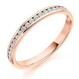 18K Gold Half Eternity 0.25 CTW. Yellow, White or Rose Gold  Pobjoy Diamonds