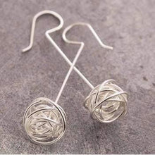 Load image into Gallery viewer, Handmade Silver Nest Stud Earrings