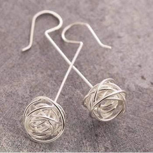 Handmade Silver Nest Stud Earrings