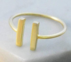 Handmade Gold Plated On SIlver Bar Bracelet From Pobjoy