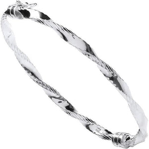Pobjoy Sterling Silver Ladies Hinged Universal Bangle