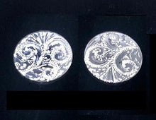 Load image into Gallery viewer, Sterling Silver Pattern Engraved Round Cufflinks - Pobjoy Diamonds