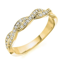 Load image into Gallery viewer, 18K Yellow Gold Entwined 0.22 CTW Diamond Half Eternity Ring - Pobjoy Diamonds