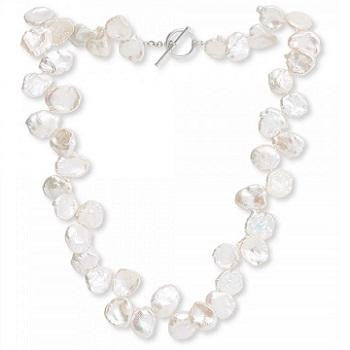 Keshi White Large Cultured Pearl Ladies Necklace - Pobjoy Diamonds