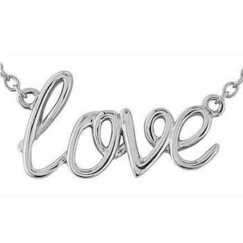 Silver Graffiti Love Pendant & Neck Chain