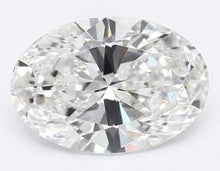 Load image into Gallery viewer, 18K White Gold 1.00 Carat Oval Cut Lab Grown Diamond Ring F/VVS1 - Pobjoy Diamonds