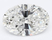 Load image into Gallery viewer, 950 Platinum 1.00 Carat Oval Cut Lab Grown Diamond Ring F/VVS1 - Pobjoy Diamonds