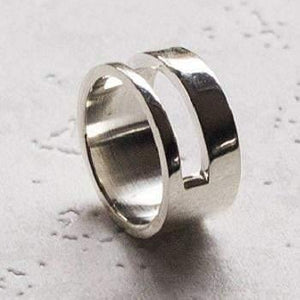 Men's Handmade Silver Duo Ring