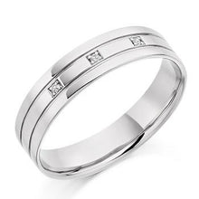 Load image into Gallery viewer, 950 Platinum Mens Wedding/Civil Partnership Band - Pobjoy Diamonds
