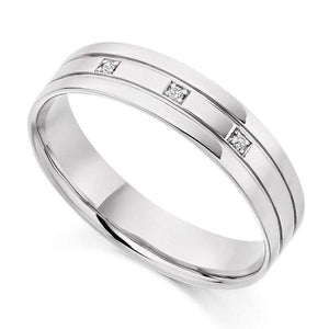 950 Platinum Ladies & Men's Wedding Band Package - Pobjoy Diamonds