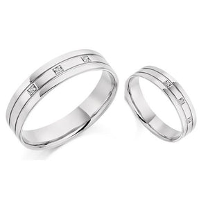 Twin 950 Platinum Mens Wedding/Civil Partnership Band SPECIAL OFFER - Pobjoy Diamonds