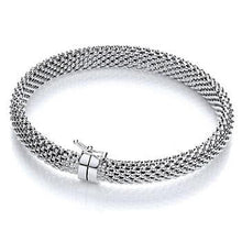 Load image into Gallery viewer, Sterling Silver Mens Mesh Bracelet - Pobjoy Diamonds
